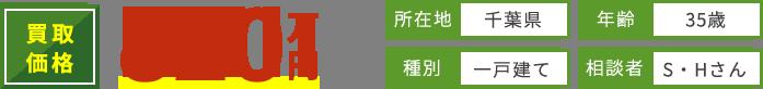 買取価格820万円所在地千葉県年齢35歳種別一戸建て相談者S・Hさん